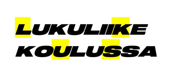 Lukuliike koulussa -pilotin logo